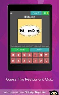 Cкриншот Guess Restaurants Trivia Quiz, изображение № 2407676 - RAWG