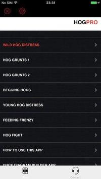 Cкриншот REAL Hog Calls - Hog Hunting Calls - Boar Calls, изображение № 1729293 - RAWG