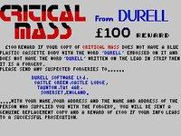 Cкриншот Critical Mass (1985), изображение № 756773 - RAWG