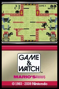 Game & Watch: Mario's Cement Factory screenshot, image №254389 - RAWG