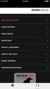 Cкриншот REAL Raven Hunting Calls - 7 REAL Raven CALLS & Raven Sounds! - Raven e-Caller - Ad Free - BLUETOOTH COMPATIBLE, изображение № 2066462 - RAWG