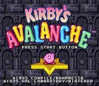 Kirby's Avalanche (1995) screenshot, image №761995 - RAWG