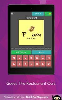 Cкриншот Guess Restaurants Trivia Quiz, изображение № 2407677 - RAWG