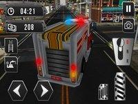 Cкриншот Fire truck emergency rescue 3D simulator free 2016, изображение № 1987331 - RAWG