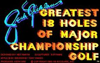 Cкриншот Jack Nicklaus' Greatest 18 Holes of Major Championship Golf, изображение № 736255 - RAWG