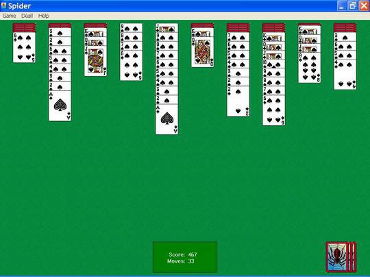 Spider Solitaire (Microsoft) screenshot