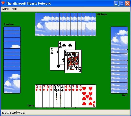 Hearts (Microsoft) screenshot