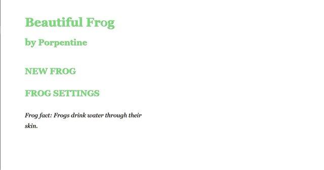Beautiful Frog screenshot