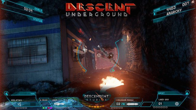 Descent: Underground screenshot