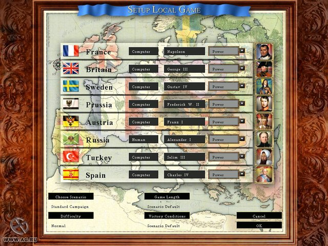 Crown of Glory: Europe in the Age of Napoleon screenshot