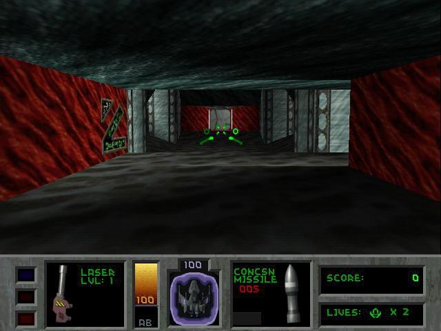 Descent 2 (1996) screenshot