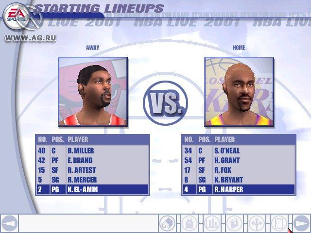 NBA Live 2001 screenshot