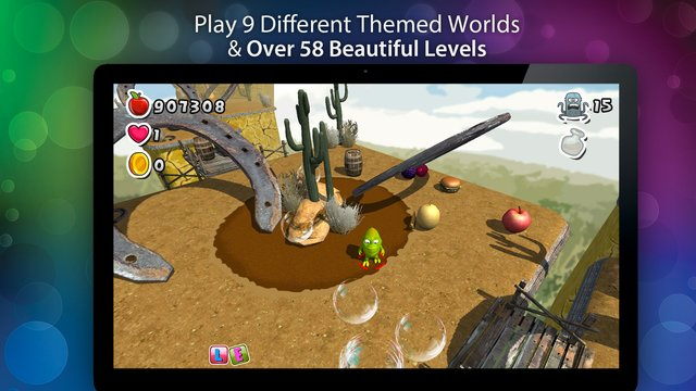 Bubble Jungle Super Chameleon Platformer World screenshot