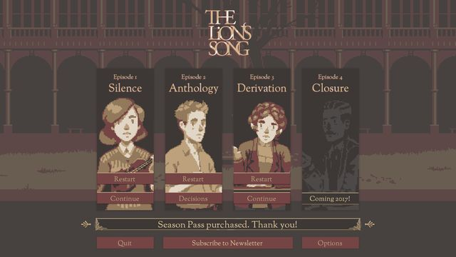 The Lion's Song: Episode 1 - Silence screenshot