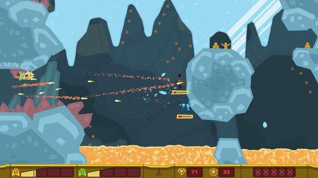 PixelJunk Shooter screenshot