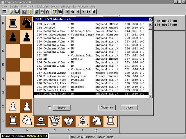 Karpov Schach 2000 screenshot