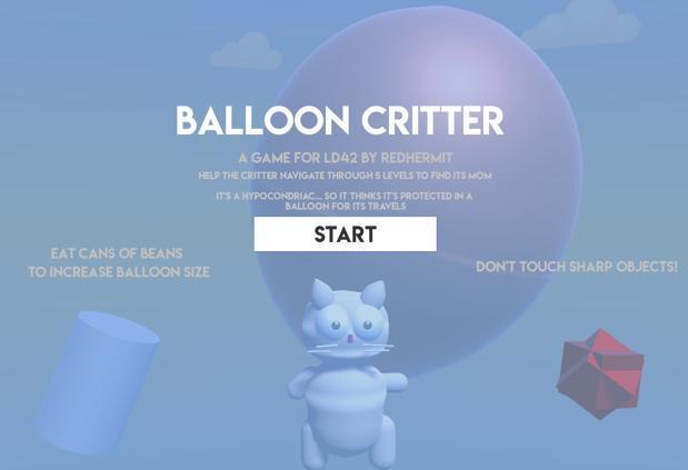Balloon Critter - LD42 screenshot