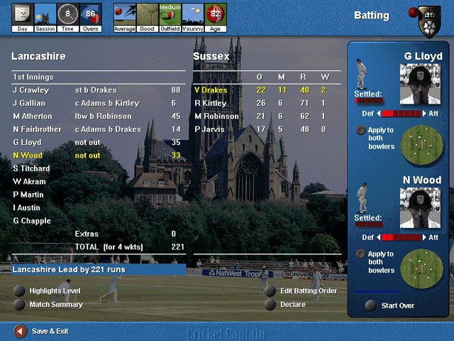 International Cricket Captain screenshot
