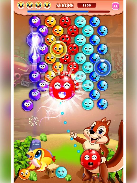 Bubble Shooter Squirrel Bird Deluxe-Pop Match 3 screenshot