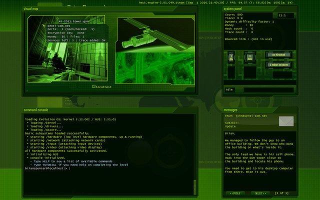 Hacker Evolution: Untold screenshot