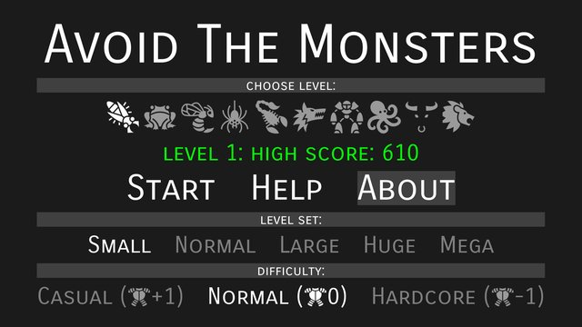 Avoid The Monsters screenshot