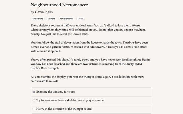 Neighbourhood Necromancer screenshot