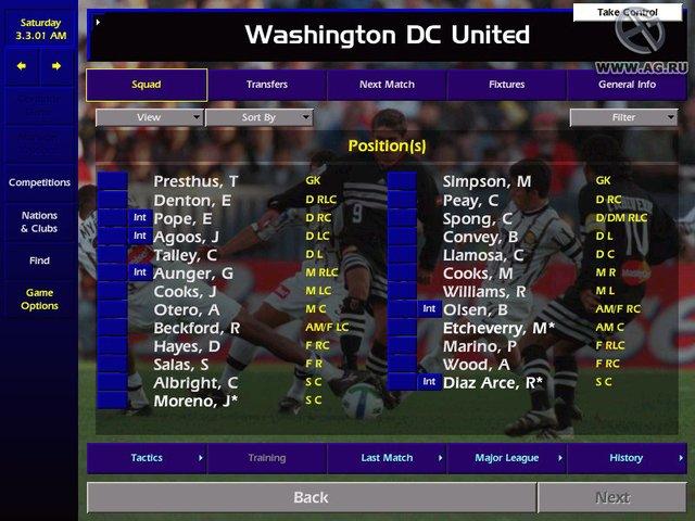 Championship Manager Season 00/01 screenshot