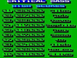 Critical Mass (1985) screenshot