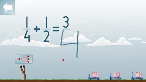 Adding Fractions Math Game screenshot