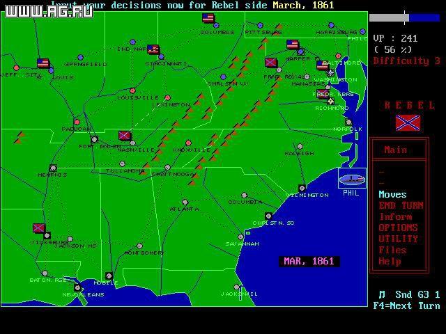 VGA Civil War Strategy screenshot