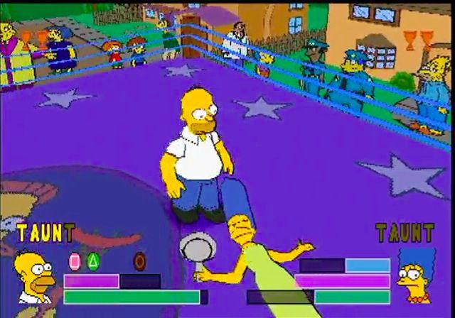 The Simpsons Wrestling screenshot
