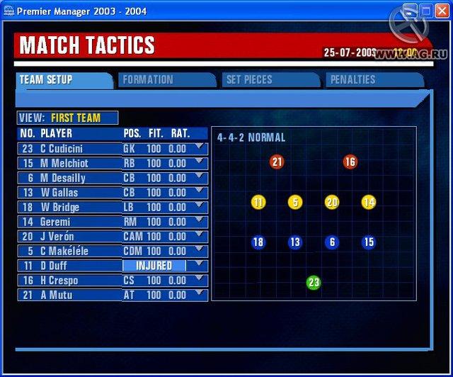 Premier Manager 2003-2004 screenshot