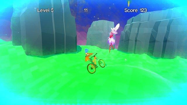 Hentai tentacle bicycle race screenshot