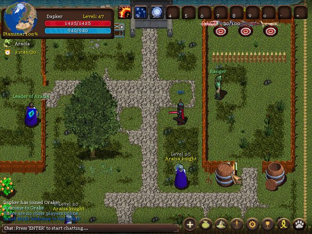 Orake 2D MMORPG screenshot