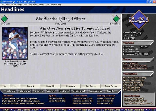 Baseball Mogul 2009 screenshot