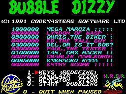 Bubble Dizzy (1990) screenshot