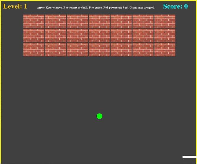 Ronitrocket's Brick Breaker screenshot