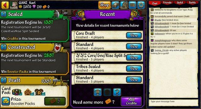 Kingdoms CCG screenshot