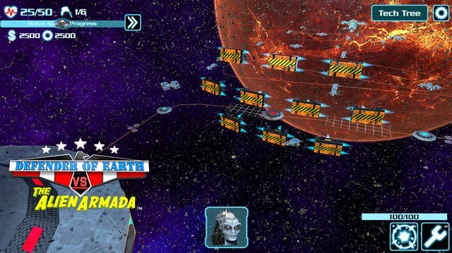 DEFENDER OF EARTH VS THE ALIEN ARMADA screenshot