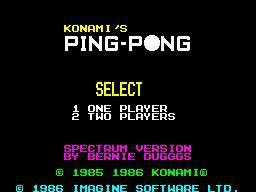 Konami's Ping Pong screenshot