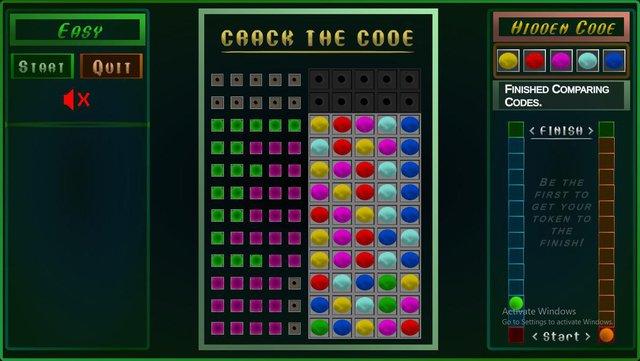 Crack the Code demo screenshot