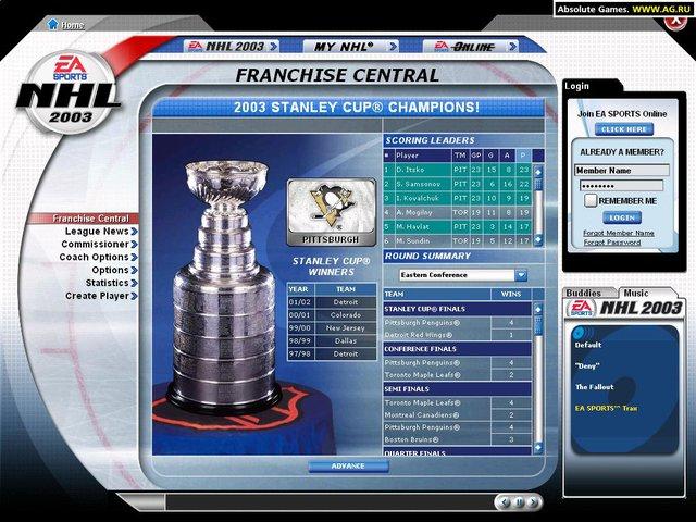 NHL 2003 screenshot