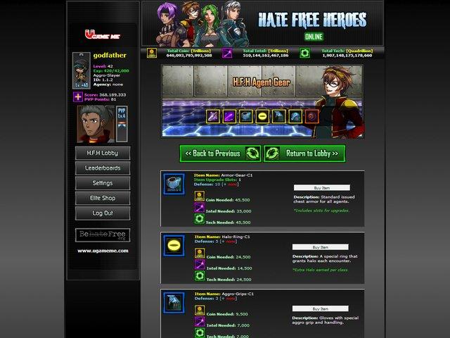 Hate Free Heroes Online screenshot