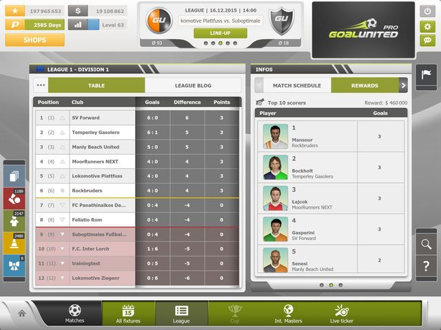 goalunited PRO – football manager for experts screenshot