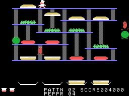 BurgerTime (1982) screenshot