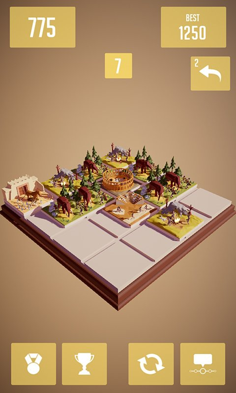 History2048 - 3D puzzle number game screenshot