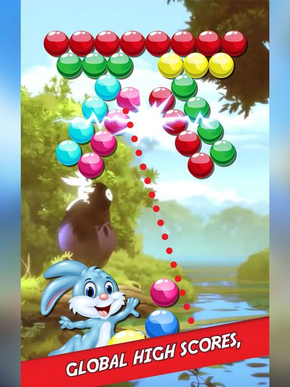Bubble Shooter Bunny Easter Match 3 Game screenshot