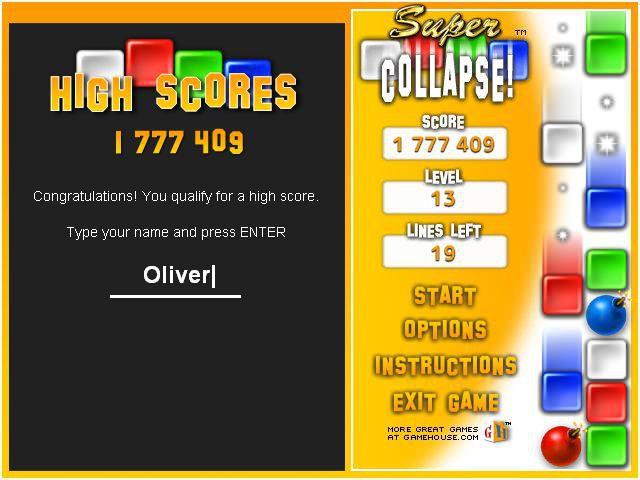 Collapse! screenshot