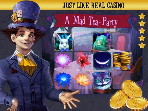 Mad Hatter Party Slots screenshot