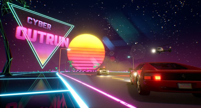 Cyber OutRun screenshot